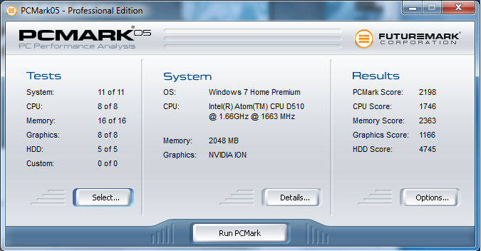 Shuttle XS35GT PC Mark 05