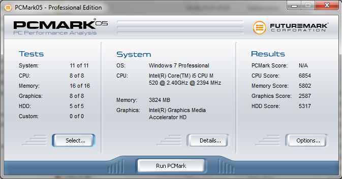 Toshiba Tecra A11-11L PCMark05