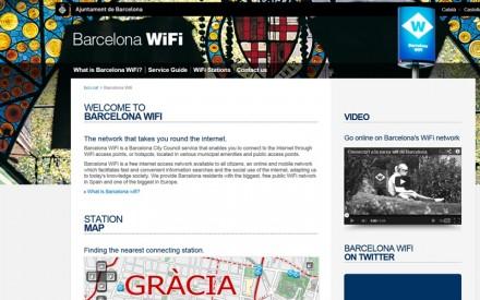 Barcelona hat 439 öffentliche Hotspots eingerichtet. Die Nutzung ist kostenlos.