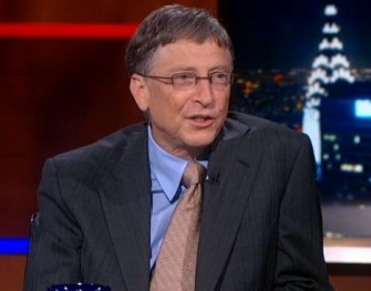 Bill Gates während des Interviews mit Stephen Colbert (Screenshot: ITespresso)