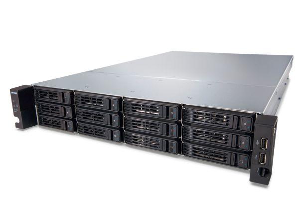 Buffalos TeraStation 7120r bietet zwölf Einschübe für Festplatten und ist für den Einbau in Racks vorbereitet (Bild: Buffalo Technology).