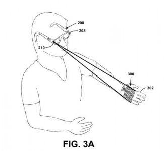 Google Glass könnte einen Laserprojektor enthalten (Bild: USPTO).