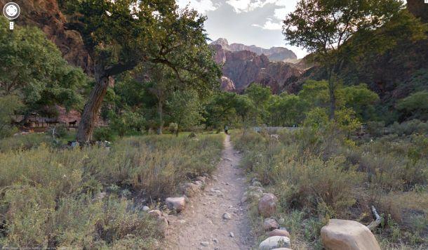 Bei Street View könnne Websurfer jetzt auch im virtuellen Grand Canyon spazieren gehen (Bild: Google).
