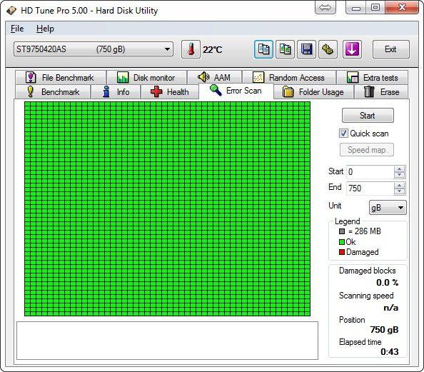 Trotz hoher Belastungen gibt es bei der DataRock auch an den Testergebnissen nichts auszusetzen (Screenshot: Christian Lanzerath)