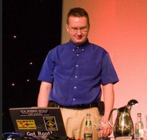 Senior-Sicherheitsforscher Jarno Niemelä von F-Secure auf der VirusBulletin-Konferenz in Dublin (Bild: F-Secure).
