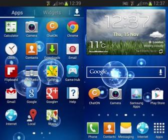 Samsung hat dem Galaxy S III Mini die Android-Version Jelly Bean mit übergestülpter Touchwiz-Oberfläche verordnet. Damit lässt sich das Smartphone gut bedienen (Bild: CNET).