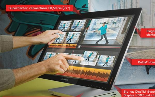 Für Consumer ist das Ideacentre A720 von Lenovo gedacht (Foto: Lenovo).