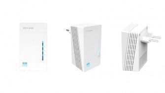 TP-Link stellt zur CeBIT WLAN-Powerline-Adapter mit Ether et-Ports und Hy-Fi-Technologie vor (Bild: TP-Link).