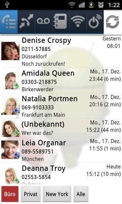 Dass bei BoxToGo Pro in Version 1.5 nur noch junge Damen anrufen ist kein zwingendes Feature, sondern eher eine Marketingmasche. Denise sollte man trotzdem umgehend zurückrufen - sie wartet schließlich schon seit gestern darauf (Bild: BoxToGo).