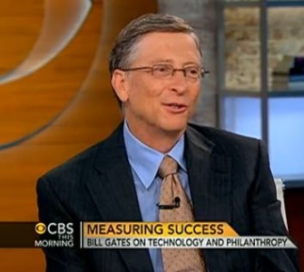 Bill Gates im Interview beim Sender CBS (Screenshot: ITespresso).