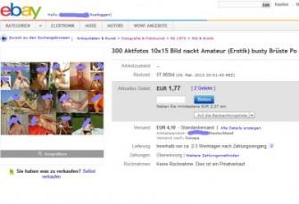 In einer Unterrubrik bei Kunst & Antiquitäten haben Jugendschützer bei Ebay anstößige Bilder entdeckt - jetzt räumt Ebay den Bereich auf (Screenshot: ITespresso).