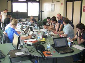 Teilnehmer beim ersten ESA App Camp im Sommer 2012 (Bild: ESA).
