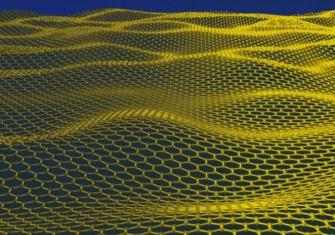 Modell einer Graphenschicht (Bild: Schwedische Akademie der Wissenschaften).