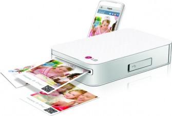 Der schicke Nachfolger von Polaroids PoGo-Drucker: LGs Photo Pocket kommt im März in den Handel (Bild: LG).
