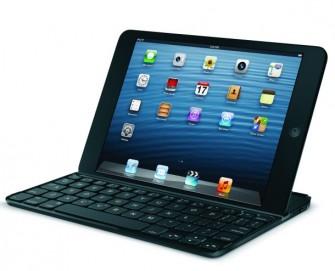 Und Logitechs Vorstellung von einer Bluetooth-Tastatur samt Schutzhülle für das iPad mini (Bild: Logitech).