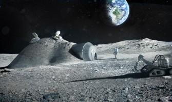 So stellt sich das Architektenbüro Foster+Partner eine Mondbasis aus dem 3D-Drucker vor (Bild: Foster+Partner).