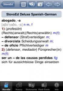 Eine der von Paragon entwickelten und vertriebenen Wörterbuch-Apps für iOS (Bild: Paragon Software)
