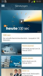 Neben Kurznachrichten bietet die heute-App des ZDF auch Livestreams und Bildergalerien (Bild: ZDF).