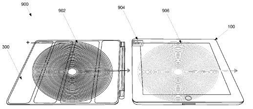 Smart Cover als Ladeerweiterung fürs iPad (Bild: Apple, via USPTO)