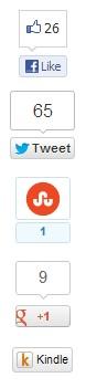 """Die Buttonleiste von Boingboing.net, ganz unten der """"Send to Kindle""""-Button."""
