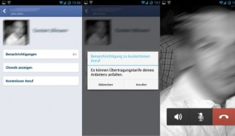 Facebooks VoiP-Feature (Screenshot: ZDNet.de).