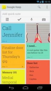 Die Android-App für Google Keep (Bild: Google)