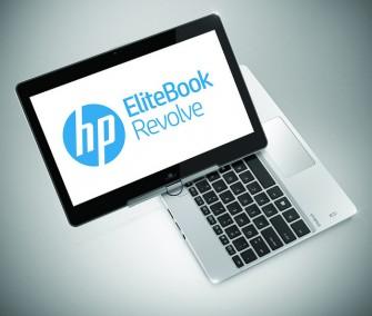 Seinem Namen wird das Elite Book Revolve durch das dreh- und schwenkbare Display gerecht (Bild: HP).