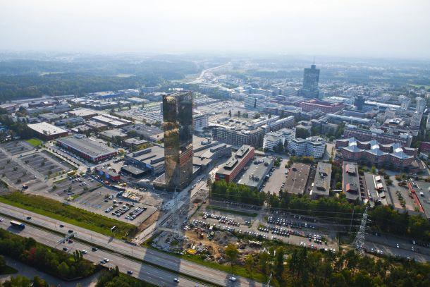 Das Gewerbegebiet Kista aus der Luft (Bild: Kista)