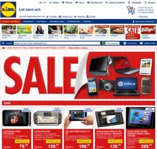 Nur wenige der bei Lidls Multimedia-Sale als stark reduziert ausgewiesenen Produkte sind tatsächlich echte Schnäppchen (Screenshot: ITespresso).