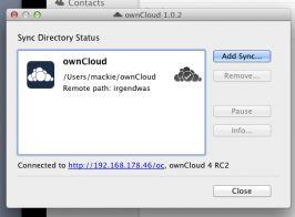 ownCloud für Macintosh