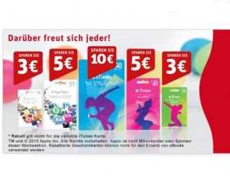 Derzeit verkauft Rewe wieder einmal iTunes-Geschenkkarten zum reduzierten Preis (Screenshot: ITespresso).