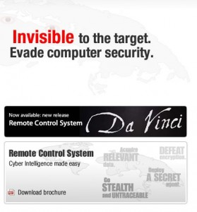 Während andere der gescholtenen Firmen die Verantwortung an die Anwenderorganisationen weiterreichen, wirbt The Hacking Team offensiv mit den Fähigkeiten seiner Software (Screenshot: ITespresso).