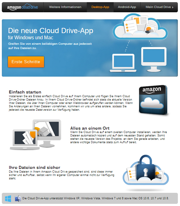 Amazon cloud drive selective sync