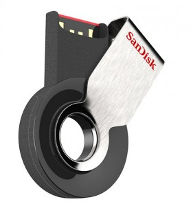 Den einfach am Schlüsselbund zu befestigtenen USB-Stick Cruzer Orbit gibt es mit 4 bis 32 GByte Speicherplatz (Bild: SanDisk)