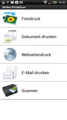 Über die App Brother iPrint&Scan lässt sich auch von mobilen Geräten drucken.
