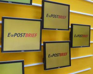Auf der CeBIT hat die Deutsche Post schon kräftig für ihren E-Postbrief getrommelt (Bild: ITespresso).