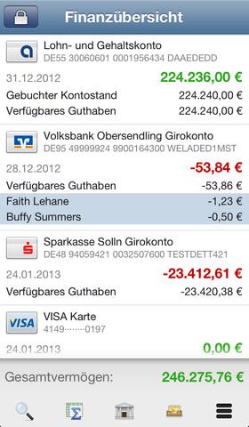"""iPhone-Banking mit """"Banking 4i"""""""