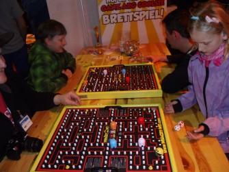 Pacman-Brettspiel Whacky Wit auf der Make Munich