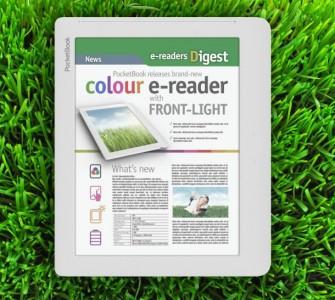 Der ColorLux von PocketBook, ein E-Book-Reader mit E-Ink-Technologie und Farbdisplay, kommt Ende Juni für 249 Euro in den Handel (Bild: PocketBook).