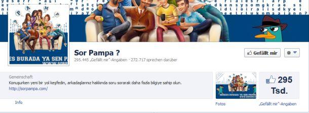 Eine der Facebook-Fanpages, für die über die Browser-erweiterung gefakte Liokes eingesammelt werden (Screenshot: G Data).