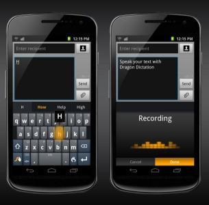 Die schon millionenfach von Android-OEMs ausgelieferte Schnelltipptastatur Swype gibt es jetzt auch als App (Bild: Nuance).
