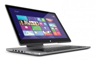 """Mit Hilfe des """"Ezel-Hinge"""" lässt sich das Display näher an die Tastatur heranrücken (Bild: Acer)."""