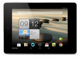 Das Acer Iconia A1 soll im Mai für 189 Euro in der WLAN-Version auf den Markt kommen. Die 3G-Variante folgt im Juli für 239 Euro (Bild: Acer).