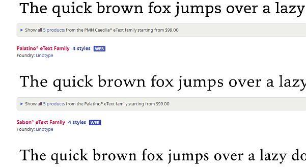 eText Fonts