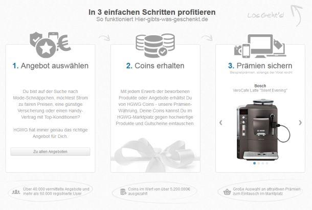 Das Prinzip sieht einfach aus, Kunden sind aber über die faktische Abwertung der zum Erwerb von Prämien notwendigen Coins empört (Screenshot: ITespresso).