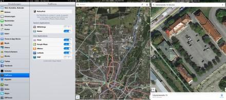 iPad: Das Cydia-Tool FullForce ermöglicht die Vollbildansicht von Google Maps (Screenshot: ZDNet.de).