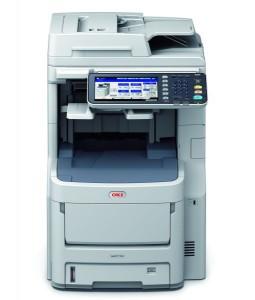 Und das zusätzlich mit Faxfunktion ausgerüstete MC770dfn von Oki (Bild: Oki).