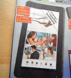 Penny bietet das 7-Zoll-Tablet NeoX7 von Odys ab Donnerstag für 99,99 Euro an (Bild: ITespresso).