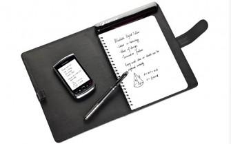 Über Bluetooth überträgt der Aiptek-Stift die Daten auch an Blackberrys oder Smartphones mit Android. (Foto: Aiptek)
