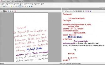 Die My Script Notes Lite Edition, die dem Aiptek-Stift beiliegt, bietet keine Trainingsfunktion.